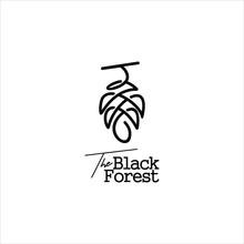 Pine Cone Logo Simple Modern Line With Black Color Design Idea