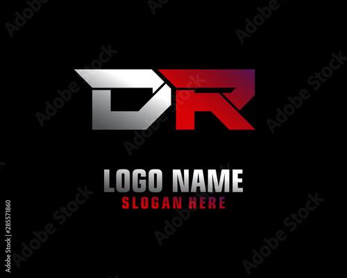 Cuadros en Lienzo DR Initial letter logo template vector
