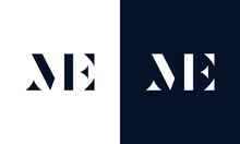 Abstract Letter ME Logo. This ...
