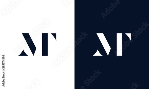Fotografie, Obraz Abstract letter MT logo