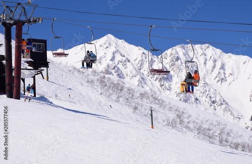 Fotomural  Hakuba valley snow resort, Nagano