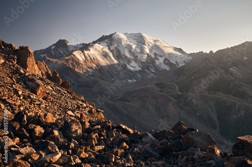 Beautiful landscape of mountains Canvas Print