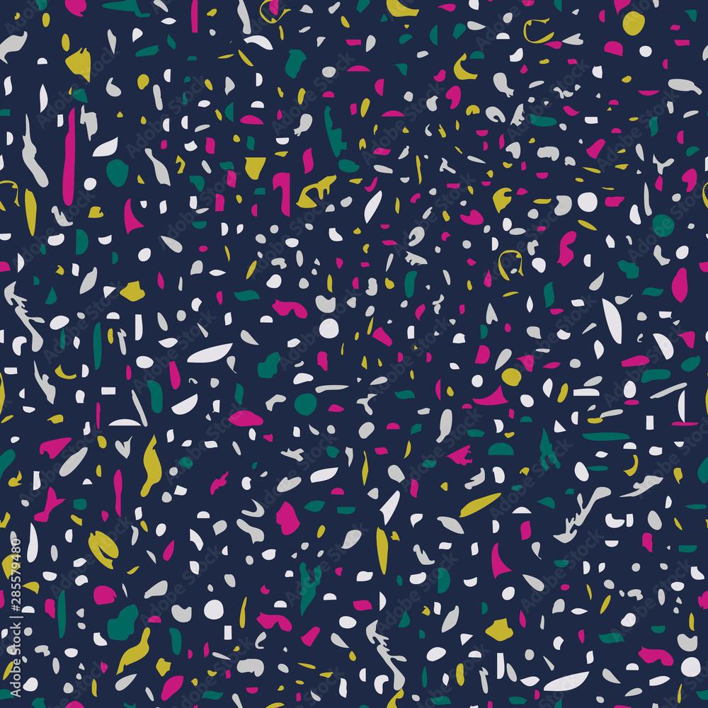 Vector illustration of bright confetti