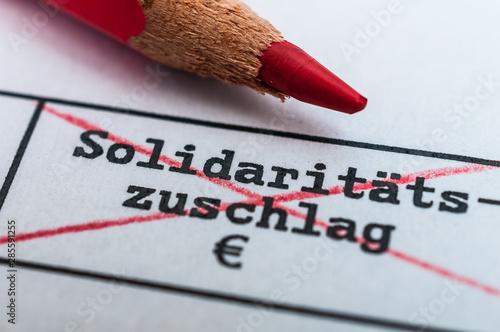 Photo Abschaffung  Solidaritätszuschlag