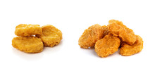 Fried Chicken Nuggets Isolated...