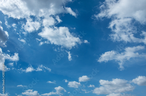 blue sky with clouds background - 285591885