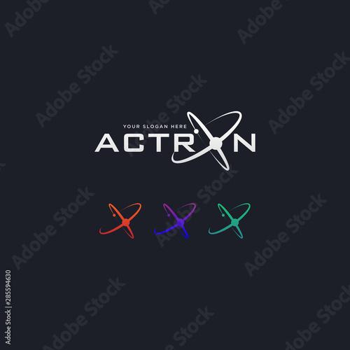 Photo Abstract futuristic orbit tech, science, internet, logo template
