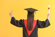 Female Graduate With Diploma O...