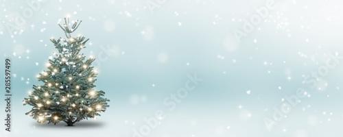 Cuadros en Lienzo weihnachtsbaum im schnee abstrakt