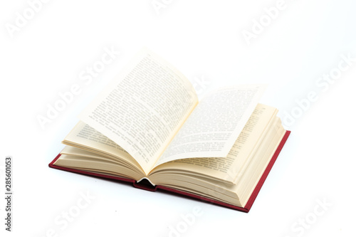 Fototapeta open vintage book isolated on a white background . obraz