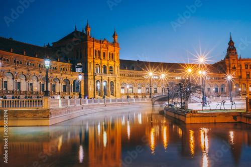 Fotografía  Séville place d'Espagne Espagne