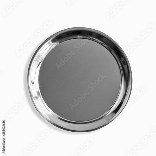 Fotomural  stainless steel tray isolate on white background with clipping path
