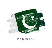 Flag Of Pakistan. Vector Illustration On A White Background.