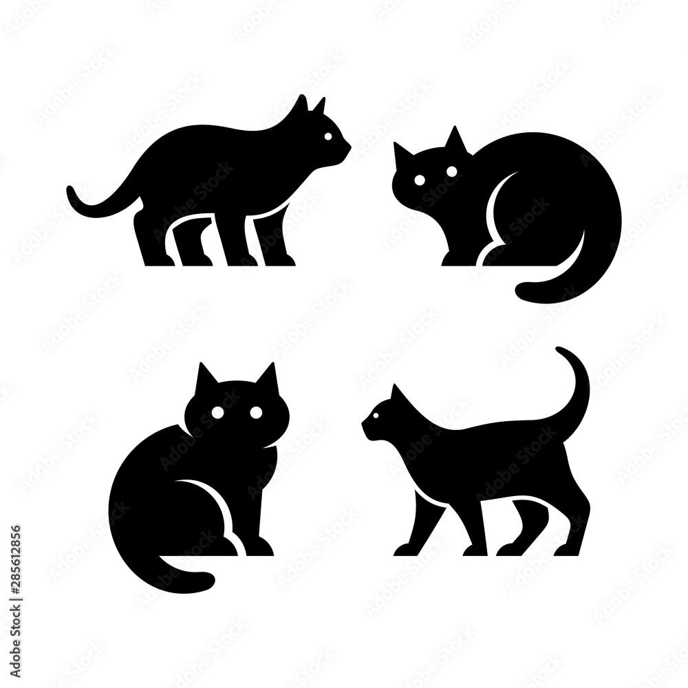 Fototapety, obrazy: Set of Cat logo. Icon design. Template elements