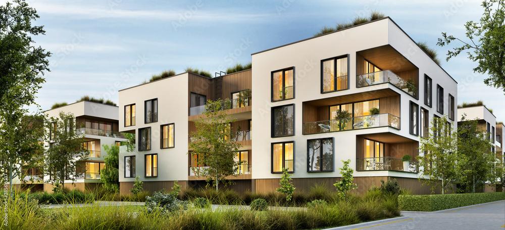 Fototapety, obrazy: Modern residential buildings