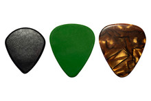 Guitar Picks Isolated On White Background