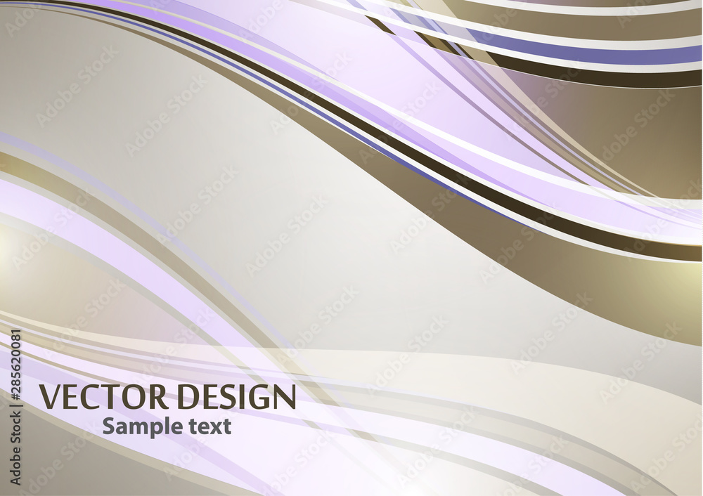 Bright color elegant lines abstract waves. Element of modern business design.