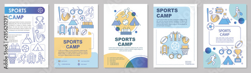 Sports camp, physical activity brochure template layout Canvas-taulu