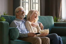 Cheerful Old Couple Holding Re...