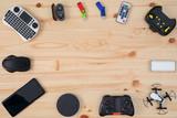 Fototapeta Sport - Modern Tech Gadgets on desk