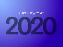 2020 Date. Vector Illustration For Poster