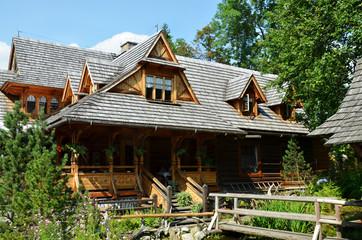 typical highlander houses in Zakopane