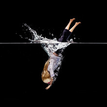 Doll Jumping Into Water