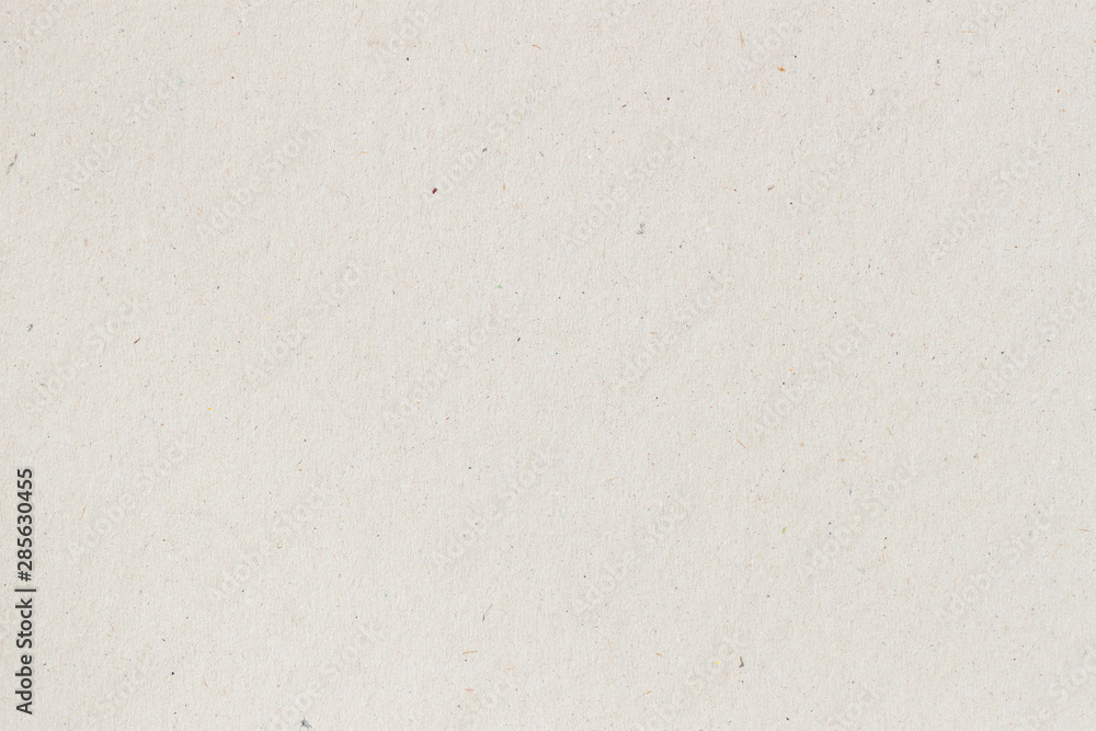 Fototapeta Texture of old organic light cream paper, background for design with copy space text or image. Recyclable material