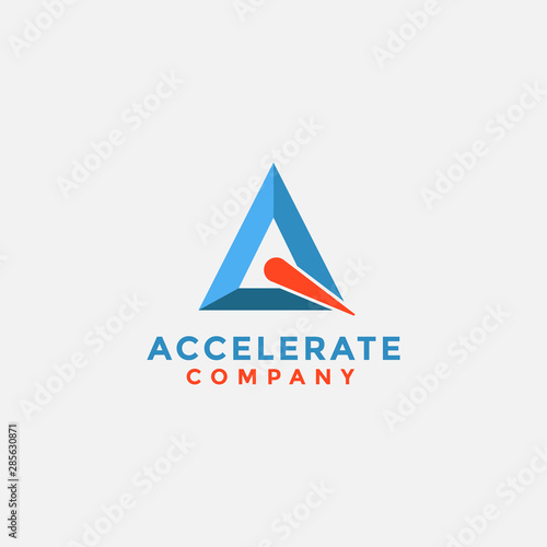 Triangle accelerate logo icon Canvas Print