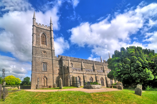 Fototapeta Cathedral Church of the Holy and Undivided Trinity - cathedral located in the town of Downpatrick in Northern Ireland obraz