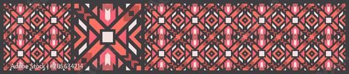 Türaufkleber Künstlich seamless-pattern-geometric