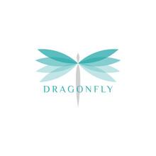 Beautiful Dragonfly Logo Desig...