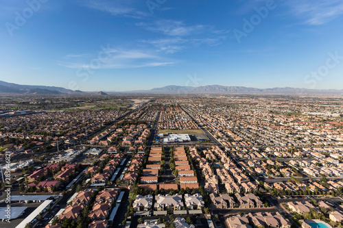Photo  Aerial view of the suburban neighborhoods in fast growing Las Vegas, Nevada