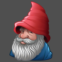 Gnome With Beard And Red Hat
