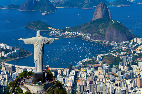 Tuinposter Rio de Janeiro Aerial view of Rio de Janeiro