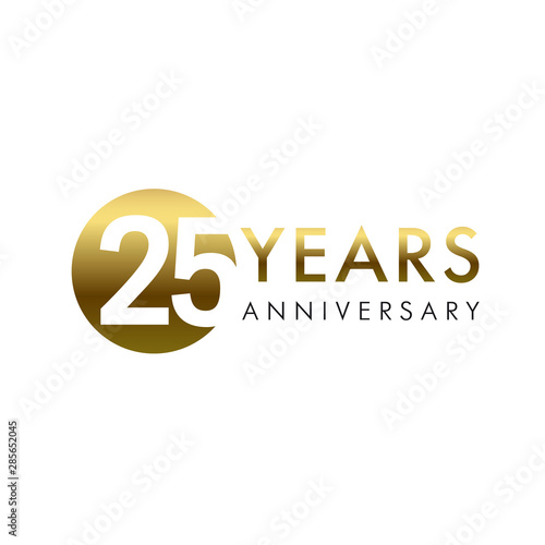 25 years anniversary vector template design illustration Wallpaper Mural