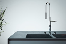 Stylish Sink And Water Faucet ...
