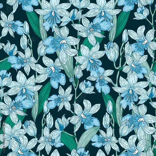 jasny-storczyk-wzor-na-ciemnym-niebieskim-tle
