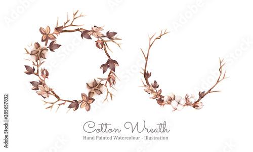 Cotton wreath Wallpaper Mural