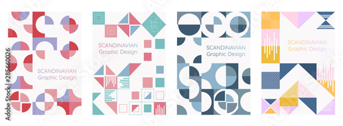Obraz Scandinavian graphic design and geometry modern style. vector illustration - fototapety do salonu