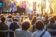 Leinwanddruck Bild - Cultural entertainment in the city in summer - openair concert