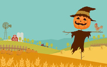 Halloween Day Background With ...