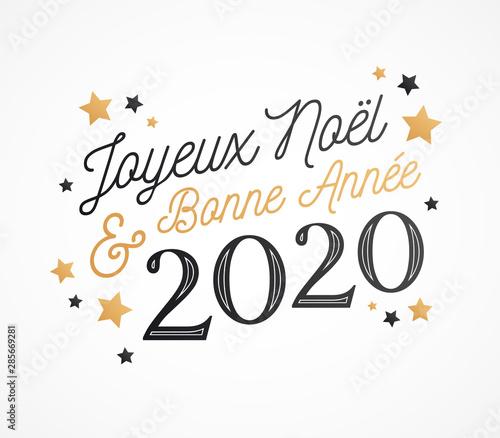 carte bonne annee 2020 Joyeux Noël et Bonne Année 2020, carte de voeux   Buy this stock