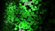 Lots of shimmering multicolored particles appearing, floating and fading on the black background. Animation. Delightful abstract animation of beautiful bright particles