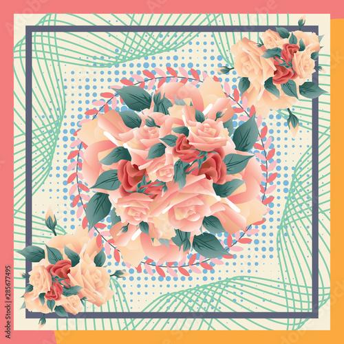 In de dag Kinderkamer Abstract Silk Fabric Art Trendy Design for Textile Printing . Scarf , Hijab , Shawl , Shirt , Skirt, Kerchief