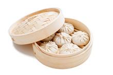 Raw Dumplings Dim Sum In Bambo...