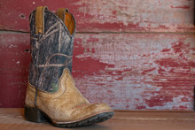 Camouflage Cowboy Boots With R...