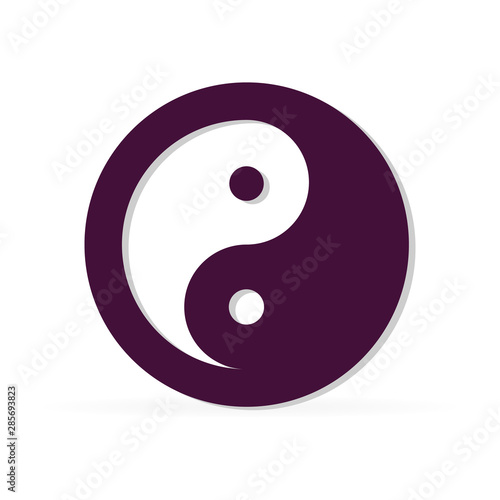 Sign of Chinese philosophy of the symbol of Confucianism Canvas Print