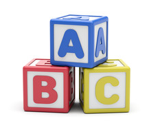 ABC Alphabet Blocks On White B...