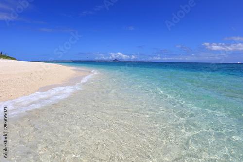 透明で美しい沖縄の海